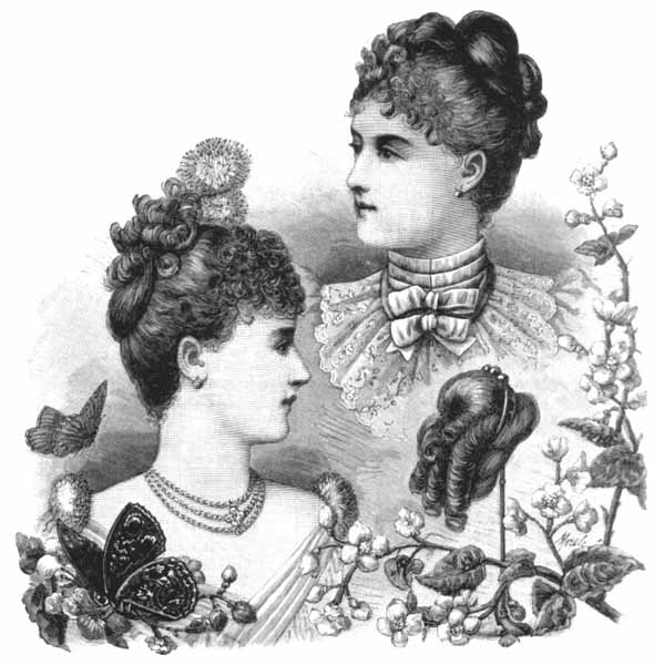 hair styles for mature women 1880s evening hairstyle 1892 | hb jan 16 92