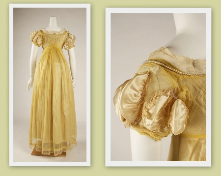regency dresses collage