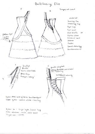 balklänning elin produktteckning