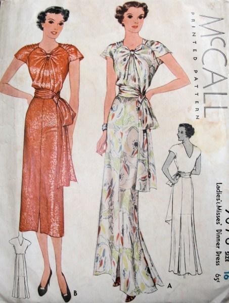 1930s dress inspiration