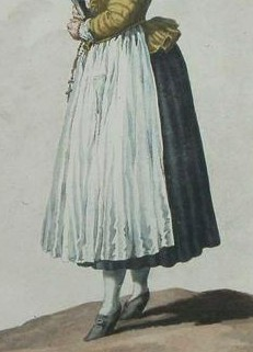 German maid, evidence of patterned jacket worn with solid skirt - kopia