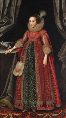 Susanna Temple ca. 1604-1669 (later m. Lady Thornhurst and m. Lady Lister) by Marcus Gheeraerts, 1620s