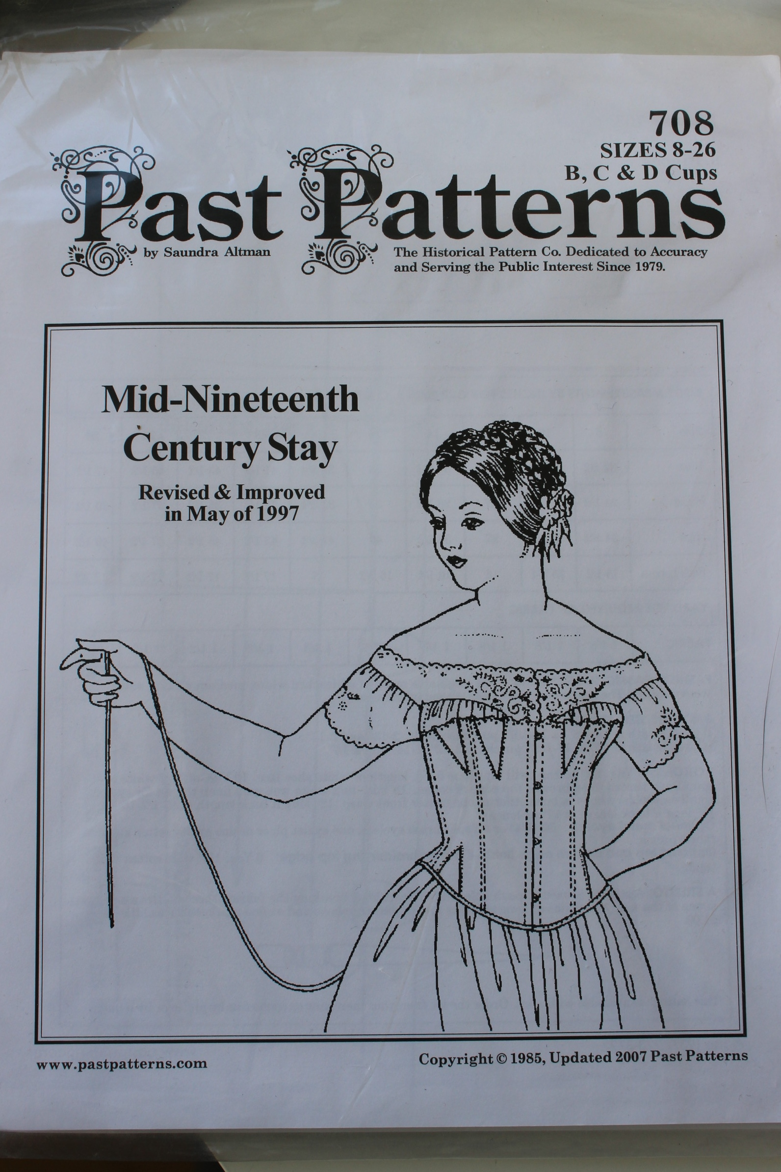 Past Patterns Early to Mid 19th C Stays Patterns